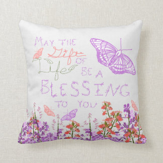 Gift of Life butterfly Throw Pillow