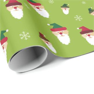 Gift Paper Merry Christmas Saint Claus Custom