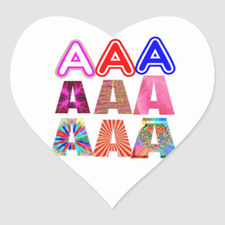 GIFT someone an Aaa Grade: Acknowledge ACHIEVEMENT Heart Sticker