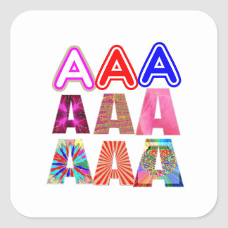 GIFT someone an Aaa Grade: Acknowledge ACHIEVEMENT Square Sticker