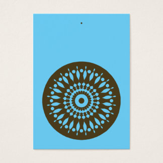 Gift Tag - Blue & Brown Business Card