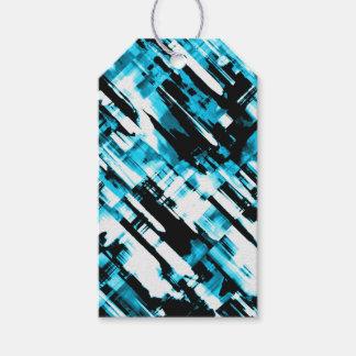 Gift Tag Hot Blue Black abstract digitalart G253