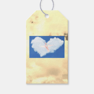 Gift Tag Hummingbird in the Clouds