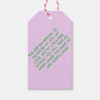 Gift tag pack of gift tags