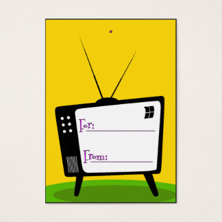 Gift Tag - Retro TV Business Card