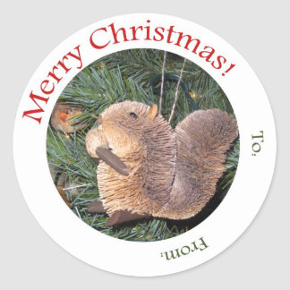 Gift Tag -- Squirrel Ornament
