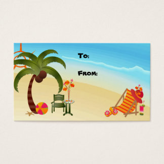 Gift Tag Tropical Paradise