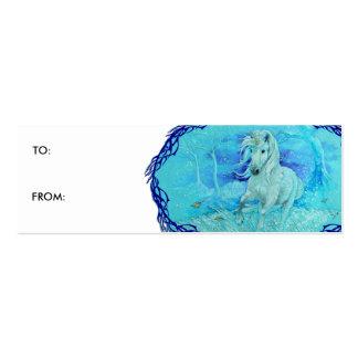 Gift Tag - Unicorn Winter Run Mini Business Card