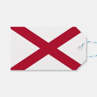 Gift Tag with Flag of Alabama, USA