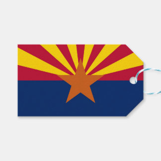 Gift Tag with Flag of Arizona State, USA