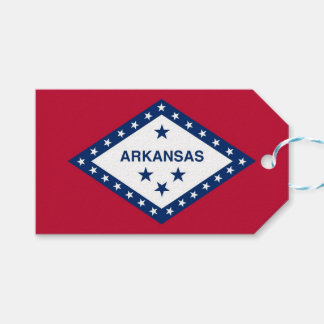 Gift Tag with Flag of Arkansas State, USA