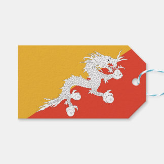 Gift Tag with Flag of Bhutan