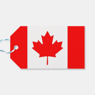 Gift Tag with Flag of Canada