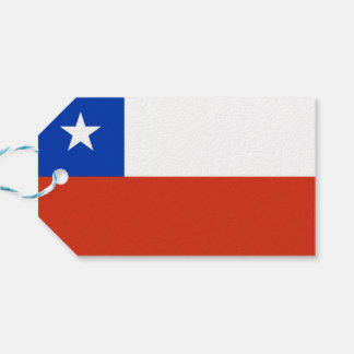 Gift Tag with Flag of Chile