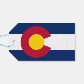 Gift Tag with Flag of Colorado, USA