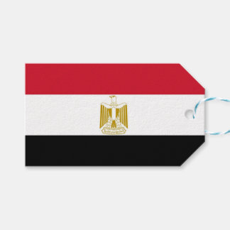 Gift Tag with Flag of Egypt
