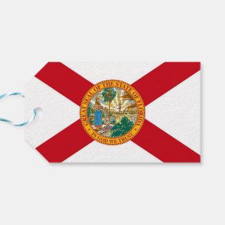 Gift Tag with Flag of Florida State, USA