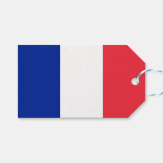 Gift Tag with Flag of France