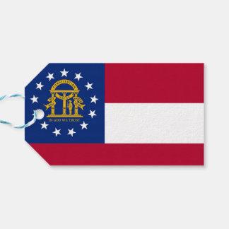 Gift Tag with Flag of Georgia State, USA