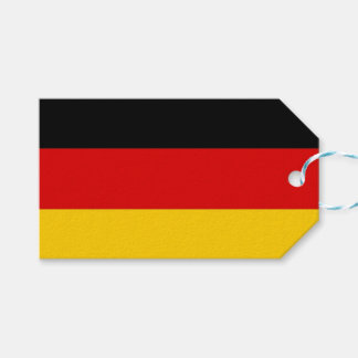 Gift Tag with Flag of Germany