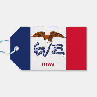 Gift Tag with Flag of Iowa State, USA