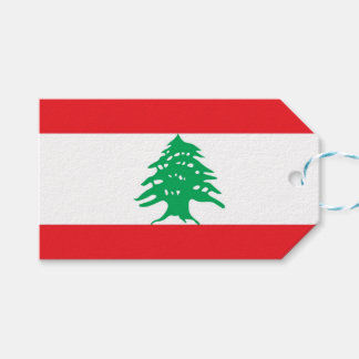 Gift Tag with Flag of Lebanon