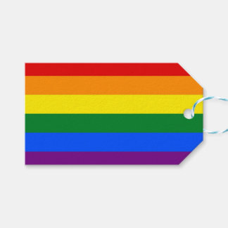 Gift Tag with Flag of LGBT