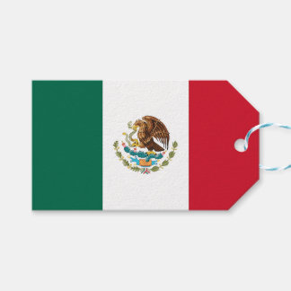 Gift Tag with Flag of Mexico