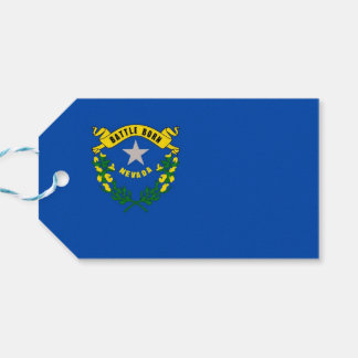 Gift Tag with Flag of Nevada State, USA