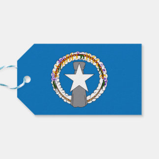 Gift Tag with Flag of Northern Mariana Islands