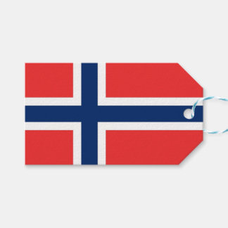 Gift Tag with Flag of Norway
