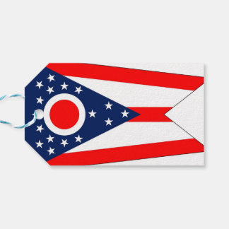 Gift Tag with Flag of Ohio State, USA