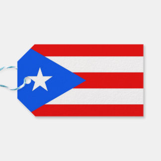 Gift Tag with Flag of Puerto Rico, USA