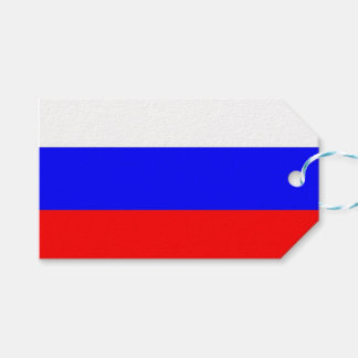 Gift Tag with Flag of Russia