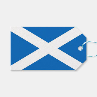 Gift Tag with Flag of Scotland, United Kingdom