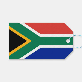 Gift Tag with Flag of South Africa