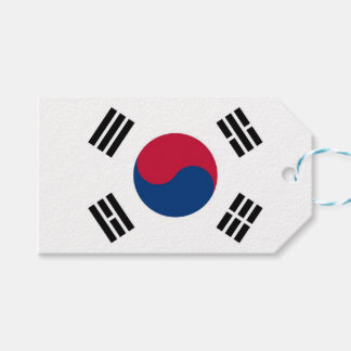 Gift Tag with Flag of South Korea