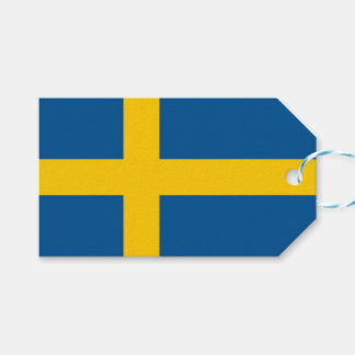 Gift Tag with Flag of Sweden