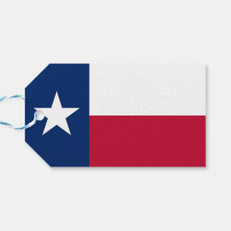 Gift Tag with Flag of Texas State, USA