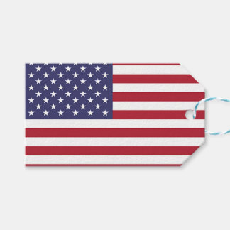 Gift Tag with Flag of United States of America