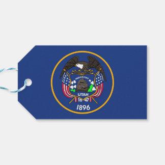 Gift Tag with Flag of Utah State, USA