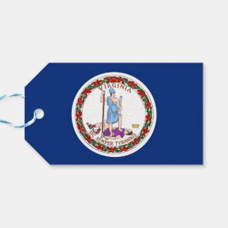 Gift Tag with Flag of Virginia State, USA