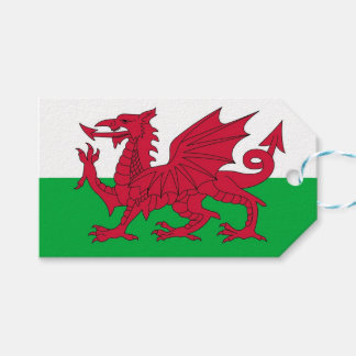 Gift Tag with Flag of Wales, United Kingdom