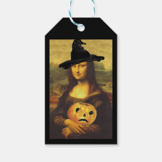 Gift Tags Mona Lisa witch Halloween Party Host Pack Of Gift Tags