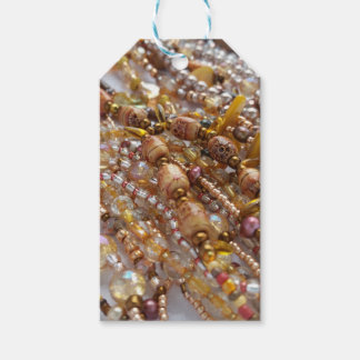 Gift Tags- Natural Earth Tones Bead Print Pack Of Gift Tags