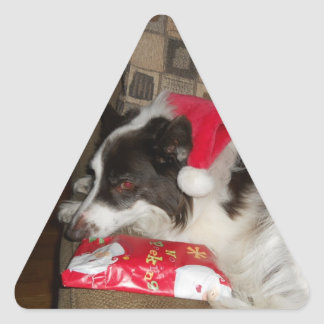 Gift time triangle sticker