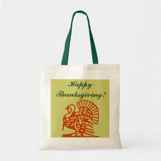 Gift Tote Bag Happy Thanksgiving Turkey Autumn