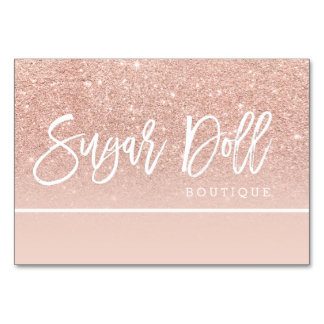 gift voucher rose gold typography rose gold logo card