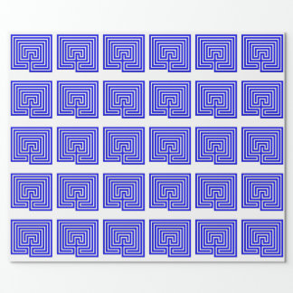Gift with a Blue Labyrinth - Wrapping Paper