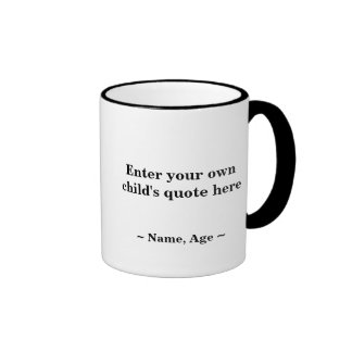 Gift With a Grin: Custom Kid's Quote Mug